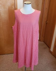 Coral Sharagano sz 20w A line Dress, NWT